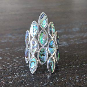 JTV Peacock Abalone Sterling Silver Ring